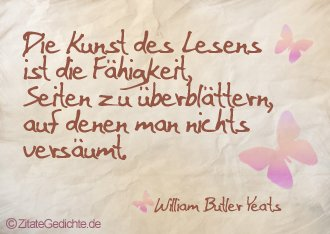 Zitat Wiliam Butler Yeats
